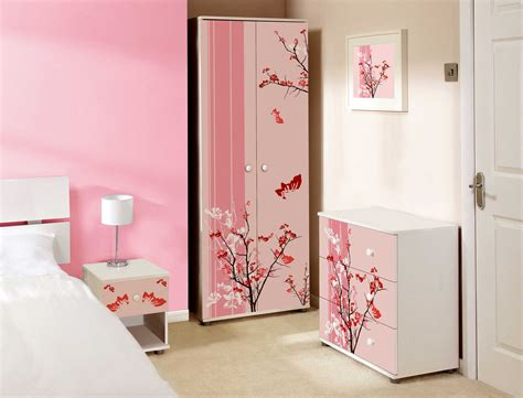 pink bedroom set bedroom furniture light pink bedroom furniture set with painting flower tree is suitable for bedroom