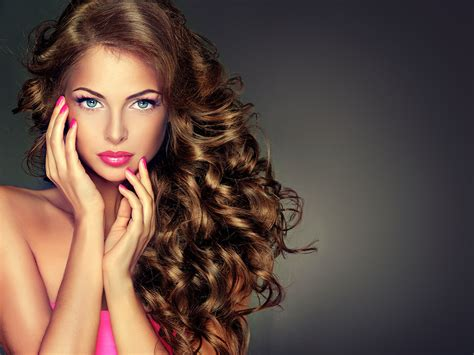 beautiful model hair and make up beautiful model brunette with long curled hair hairstyle