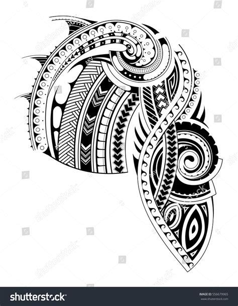 Chest Tattoo Vector | maori style tattoo design chest sleeve stock vector