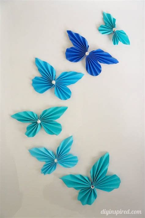 Papercraft Butterfly - diy accordion paper butterflies with astrobrights