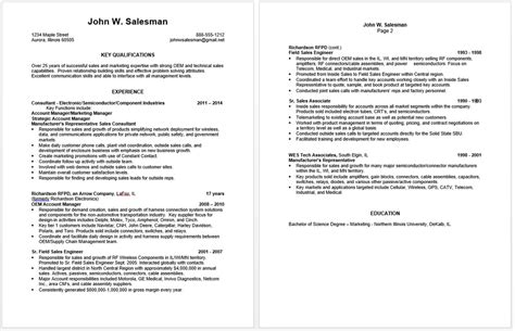 Resume Employment History Examples by Preparing An Effective Sales Resume Frank S Employment