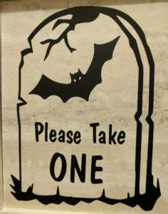 halloween sign  floor vinyl great