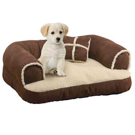 bed couch pillow collections etc comfy pet bed couch with pillow ebay