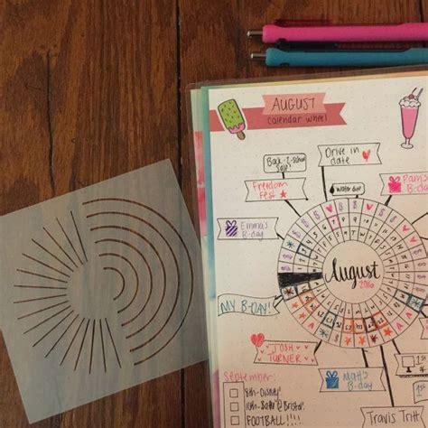 design calendar journal calendar wheel bullet journal stencil a barnwood boutique