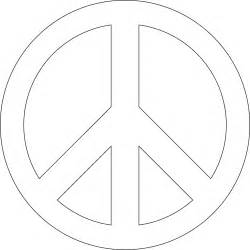 Peace Sign Template by Peace Sign Template Clipart Best Clipart Best