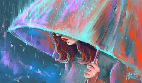 imagenes de lluvia wallpaper fondos de pantalla dibujado lluvia paraguas chicas
