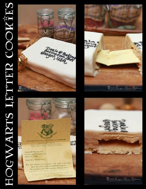 Hogwarts Acceptance Letter Cookie Sugar Bean Bakers Hogwarts Letter Cookies
