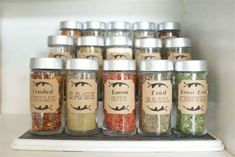 Spice Jar Storage Dollar Store Spice Cupboard