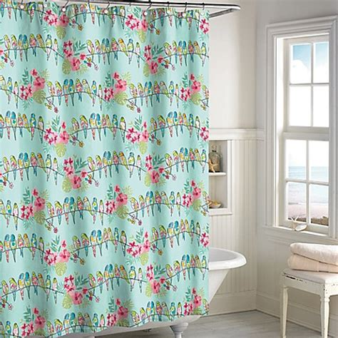 bird shower curtain tropical bird shower curtain bed bath beyond