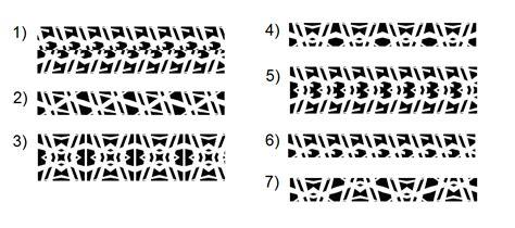 frieze pattern types median don steward mathematics teaching frieze patterns