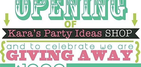 Grand Opening Giveaway Ideas - kara s party ideas grand opening archives kara s party ideas