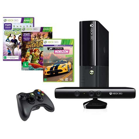 xbox 360 console with kinect console xbox 360 4gb kinect jogo forza horizon jogo