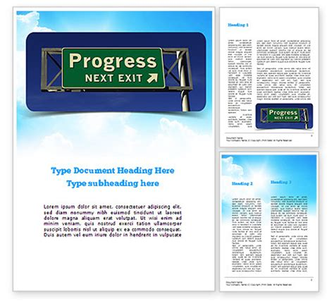 freeway templates progress freeway sign powerpoint template backgrounds