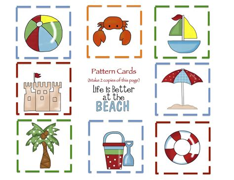 printable beach postcards preschool printables january 2013
