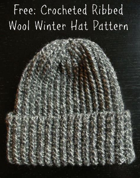 pattern crochet ribbed hat crochet ribbed wool winter hat free pattern crochet hats