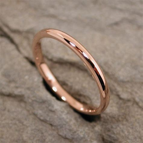 14k gold ring 2mm wedding band solid by sarantos