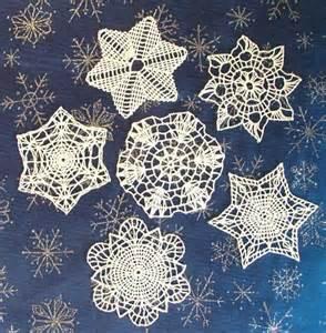 Free crochet snowflake patterns three types of crocheted