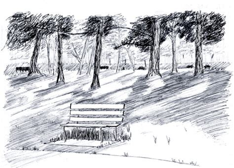 park bench drawing drawn park park bench pencil and in color drawn park