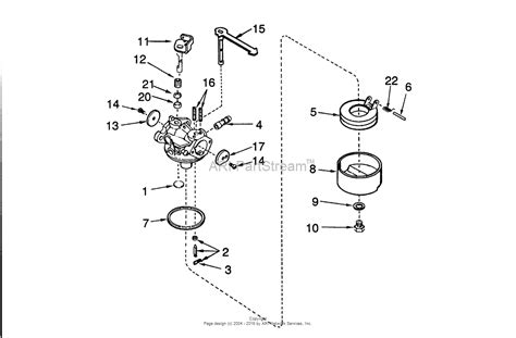 snowblower carburetor diagram toro 38175 ccr powerlite snowthrower 1991 sn 1000001