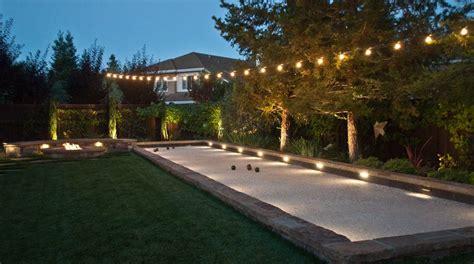 backyard bocce ball court scoreboard landscape mediterranean with bocce ball court lighting san francisco