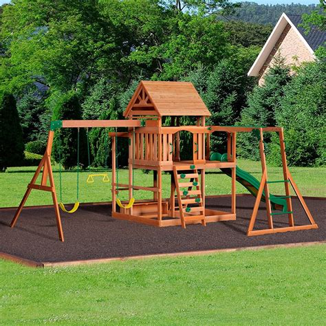 backyard discovery monticello cedar swing set top 10 wooden swing and play sets 2017