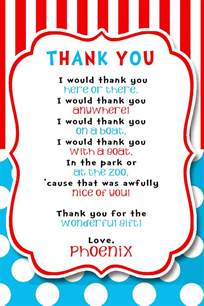 Thank You Letter To Kindy Dr Seuss Thank You Dr Seuss 1st Birthday Birthdays Babies And Dr