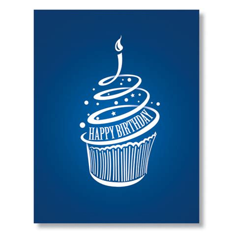 Modern Birthday Cards Modern Cupcake Business Birthday Cards From G Neil