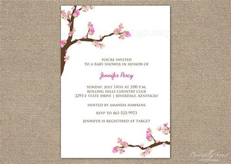 5 Best Images Of Cherry Blossom Invitations Printable Cherry Blossom Invitation Template
