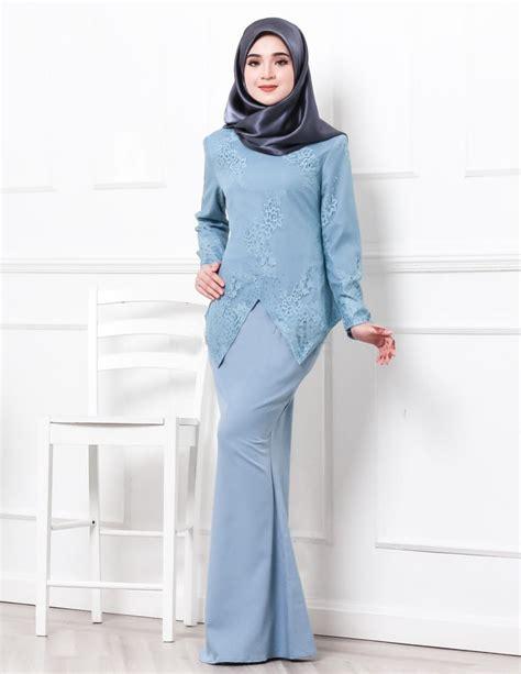 Baju Kurung Moden Warna Biru Turquoise baju kurung moden serena blue lovelysuri