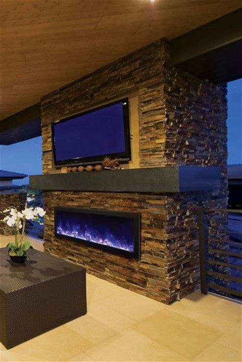 Outdoor Electric Fireplace Amantii Panorama 50 Built In Outdoor Electric Fireplace W Cover Bi 50 Od