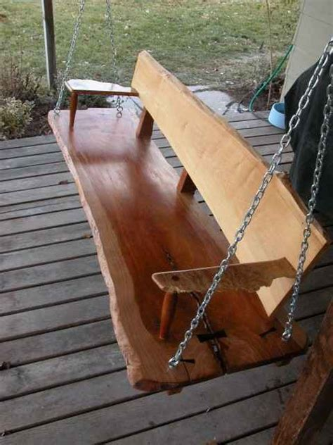 swinging cherries rustic custom cherry slab porch swing dumond s custom