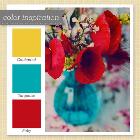 color inspiration sarah hearts yellow blue and red color palette