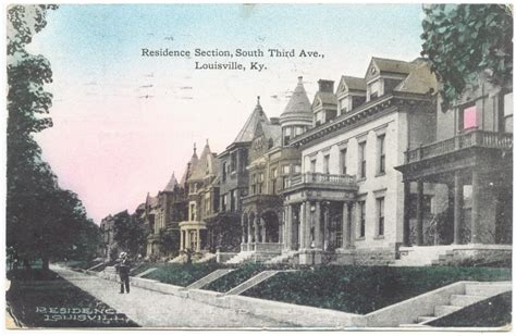 the house in old louisville vintage post cards of old louisville third avenue between magnolia and hill street