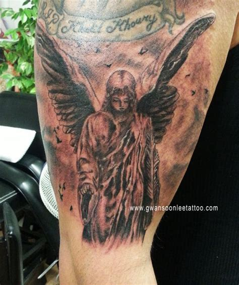 gothic angel tattoo designs design gwan soon tattoos