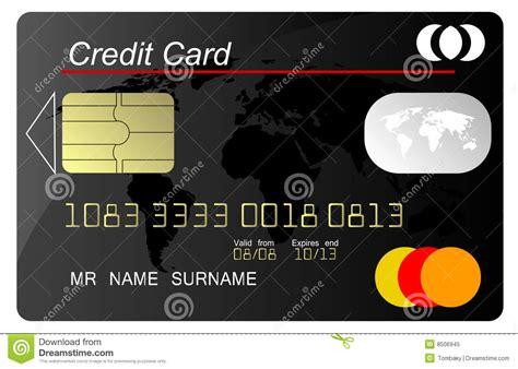 Credit Card Template Black Royalty Free Stock Photo Black Credit Card Vector