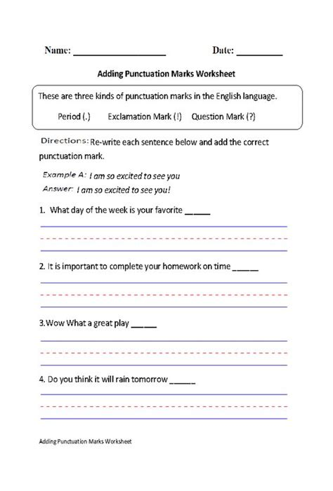 Grammar And Punctuation Worksheets by The World S Catalog Of Ideas