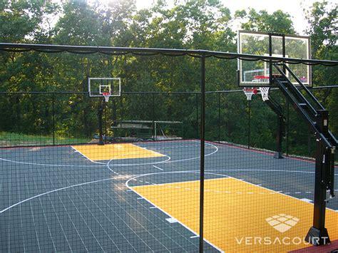 full court basketball court backyard versacourt indoor outdoor backyard basketball courts