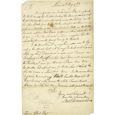 laws and lives letters from vienna books robert dinwiddie 1721 1770 signed letter robert