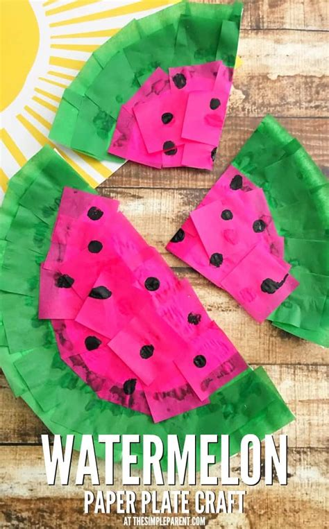 easy crafts to make with paper make a watermelon craft from a paper plate