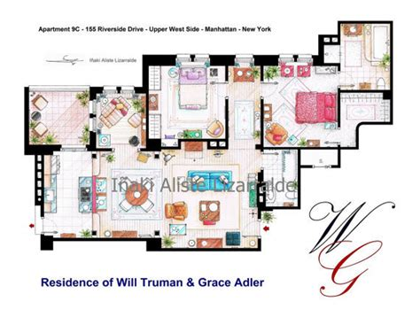 How To Find House With Same Floor Plan by Carrie Bradshaw S Apartment Floorplan More Fictional New