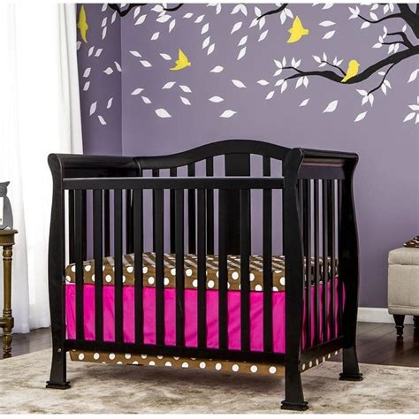 Dream On Me Naples 4 In 1 Convertible Mini Crib In Black On Me Mini Crib