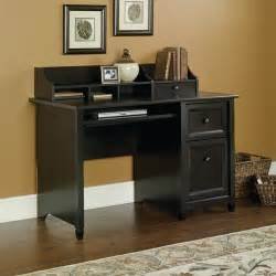 Small Computer Desk With Black Finish Sauder Edge Water Computer Desk 409043