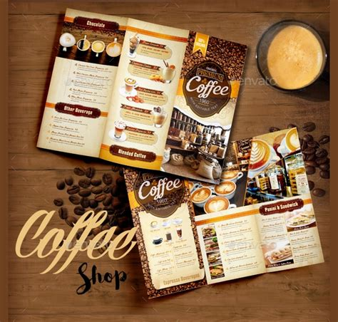 coffee shop brochure designs  templates word psd eps vector design trends premium