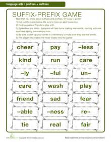 prefixes and suffixes printable workbook education com