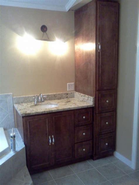 amazing bathroom vanity  linen cabinet bathroom vanity