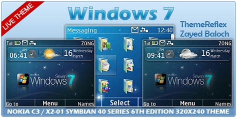 theme windows 10 nokia c3 windows 7 live theme for nokia c3 x2 01 themereflex
