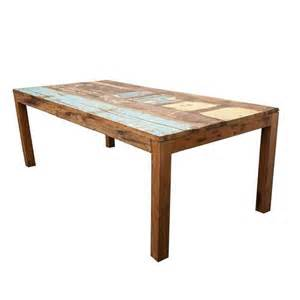 reclaimed indonesian fishing boat dining table for sale at
