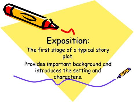 exle of exposition literary terms