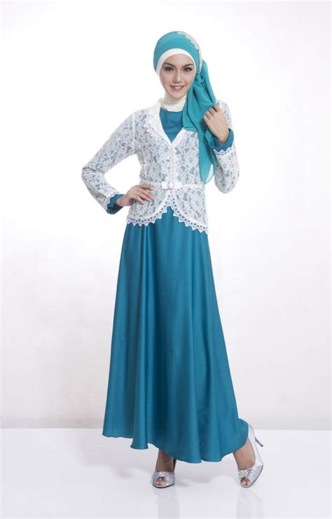 Gamis Abaya Syar I Brokat Amlya 10 best images about gamis pesta modern on models and coral aqua