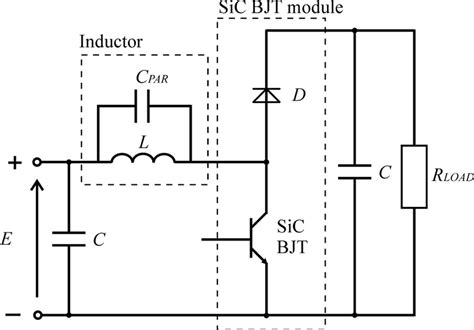 single inductor dc excited circuits schematic diagram of the dc dc boost converter with sic bjt